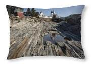 Pemaquid Point Light - Bristol Maine Throw Pillow