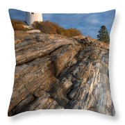 Pemaquid Point Light II Throw Pillow