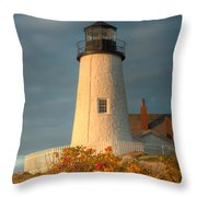 Pemaquid Point Light IIi Throw Pillow