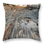 Pemaquid Point Light Iv Throw Pillow