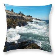 Pemaquid Point Lighthouse 1 Throw Pillow