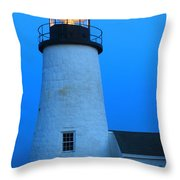 Pemaquid Point Lighthouse Moon Throw Pillow