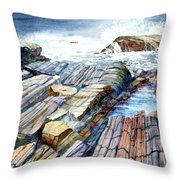 Pemaquid Rocks Throw Pillow