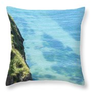Pembrokeshire Cliffs Throw Pillow