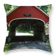 Pemigewasset River Bridge Throw Pillow