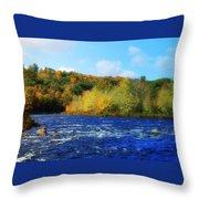 Pemigewassett River Throw Pillow