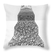 Pen And Ink Staircase Throw Pillow