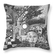 Pen And Ink World 1 Throw Pillow