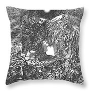 Pen And Ink World 2 Throw Pillow