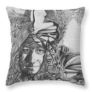 Pen And Ink World 3 Throw Pillow