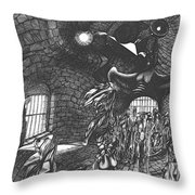 Pen And Ink World 5 Throw Pillow
