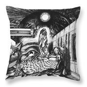 Pen And Ink World 6 Throw Pillow