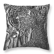 Pen And Ink World 8 Throw Pillow