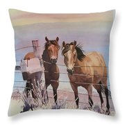 Pen Pals Throw Pillow