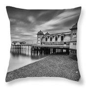 Penarth Pier 1 Mono Throw Pillow