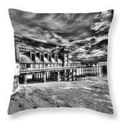 Penarth Pier 6 Monochrome Throw Pillow
