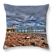 Penarth Pier 7 Throw Pillow