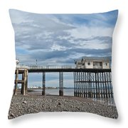 Penarth Pier Panorama 1 Throw Pillow