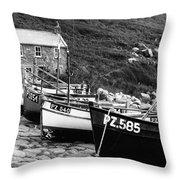 Penberth Cove Throw Pillow