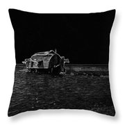 Pencil - A Houseboat Moving Placidly Through A Coastal Lagoon In Alleppey Throw Pillow