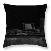 Pencil - Buildings Along The Waterfront In Singapore Throw Pillow