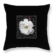 Pencil A Rose Throw Pillow
