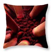 Pencil Urchin Detail  Throw Pillow