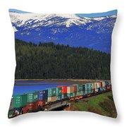 Pend Oreille Freight Throw Pillow
