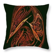 Pendant Fractal Paisley Throw Pillow