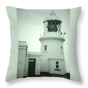 Pendeen Lighthouse Throw Pillow