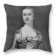 Penelope Barker (1728-1796) Throw Pillow