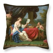 Penelope Reading A Letter From Odysseus Throw Pillow