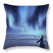 Penguin Dreams Throw Pillow