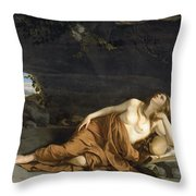 Penitent Mary Magdalene Throw Pillow