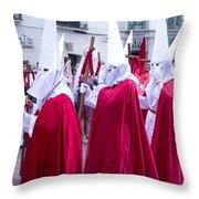 Easter Sunday Penitente In Nerja Throw Pillow