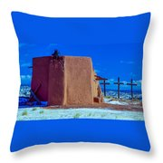 Penitente Morada Christian Church At Abiquiu New Mexico Throw Pillow