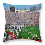 Penn State Rose Bowl Throw Pillow by Benjamin Yeager