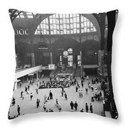 Penn Station Nyc 1957 Throw Pillow