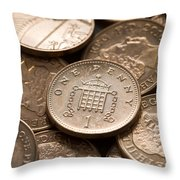 Pennies Sterling Full Frame Throw Pillow