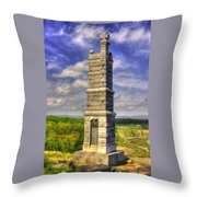 Pennsylvania At Gettysburg - 91st Pa Veteran Volunteer Infantry - Little Round Top Spring Throw Pillow by Michael Mazaika