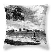 Pennsylvania Farm, 1795 Throw Pillow