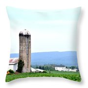 Pennsylvania Farms Throw Pillow