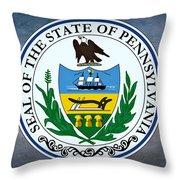 Pennsylvania State Seal Throw Pillow