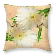 Penny Postcard Cheerful Throw Pillow