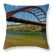 Pennybacker 360 Bridge, Austin, Texas Throw Pillow