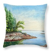 Penobscot Inlet Throw Pillow