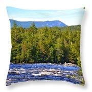 Penobscot River And Mt Katahdin Throw Pillow