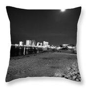 Pensacola Beach At Night Throw Pillow