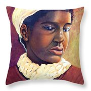 Pensive Contemplation Throw Pillow