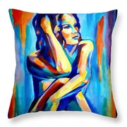 Pensive Figure Throw Pillow